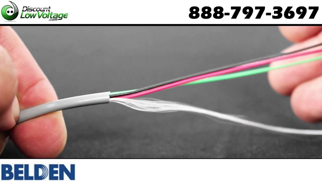 Belden 5502UE 22awg 4C Stranded Speaker Wire - YouTube