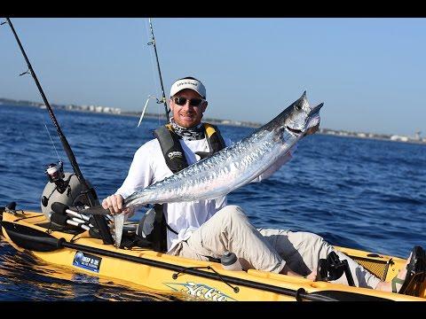 King mackerels and false albacore from a kayak deep blue for Deep blue kayak fishing