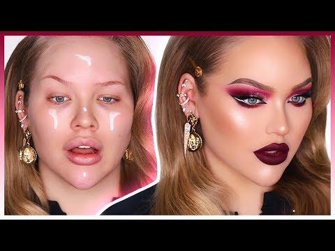 Vampy Holiday Cat Eye Makeup Transformation
