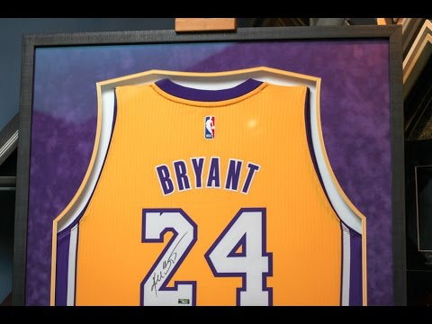 Framing a Signed Kobe Bryant Lakers Jersey - YouTube