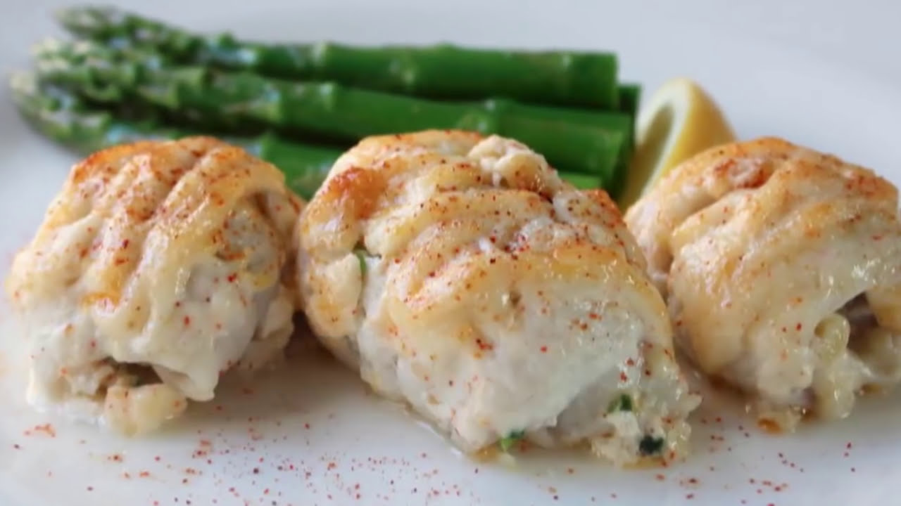 Crab Stuffed Sole Recipe - Baked Sole with Crab Stuffing - YouTube