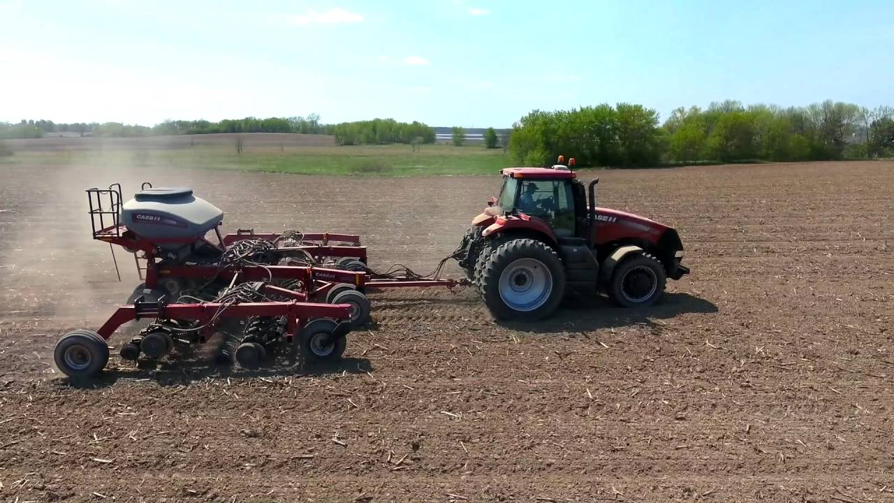 Case Ih 1245 Planter 500t Disk Drill Lange Farms 2016 Youtube