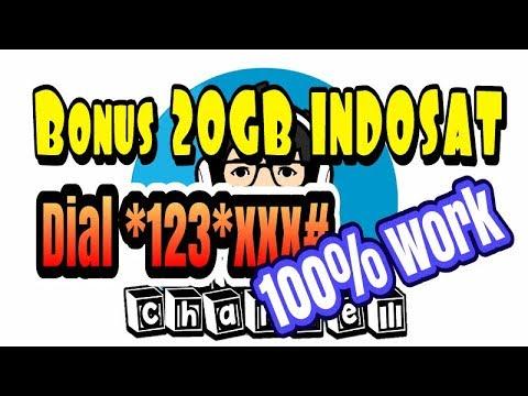 Cara mendapatkan bonus 20Gb Indosat 100% work