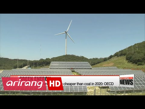 New renewable energy to be cheaper than coal in 2020: OECD
