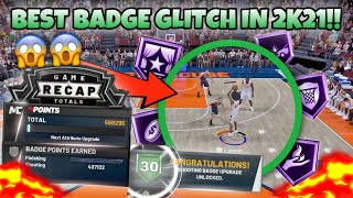HOW TO DO THE BEST BADGE GLITCH IN 2K21‼️😳 (MAX YOUR PLAYER OUT) *WORKS ON ALL BUILDS \u0026 BADGES*🔥