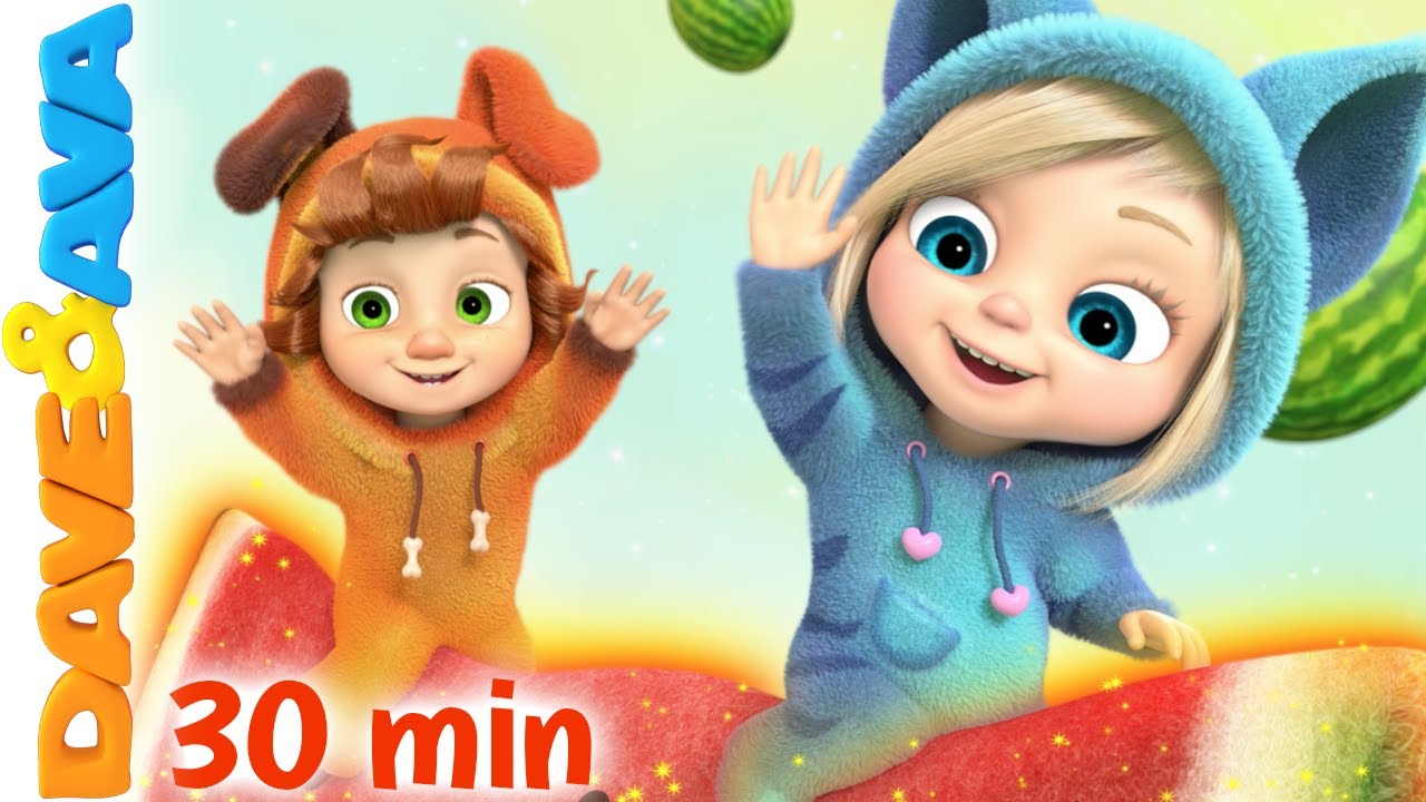 🐸  Down by the Bay and More Nursery Rhymes & Baby Songs   Dave and Ava 🐸