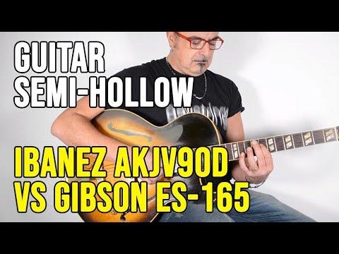 Ibanez AKJV90D vs Gibson ES-165 Herb Ellis Video Test