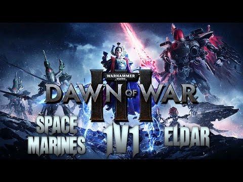 Dawn Of War 3 Open Beta Multiplayer 1v1 Gameplay Eldar Vs Space Marines