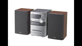 2006 Sony CMT-NEZ30 CD/cassette micro bookshelf stereo system