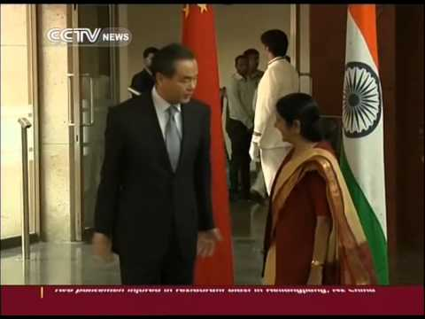 China's first meeting with India's new government