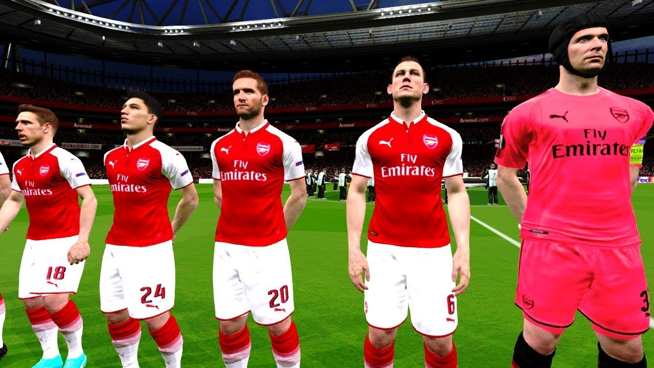 Arsenal Vs Atletico Madrid   Europa League  Gameplay