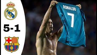 ريال مدريد ~ برشلونة 5-1 نهائي كأس سوبر الإسباني 2017 تعليق فهد العتيبي HD 720p