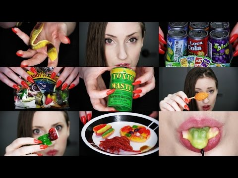 ASMR gummi candy show 'n MASTICATE (sans mouth sounds)