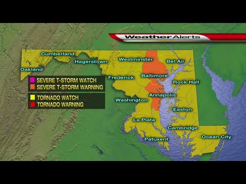 Flash Flood Warning, Severe Thunderstorm Warning Issued For Parts Of Maryland