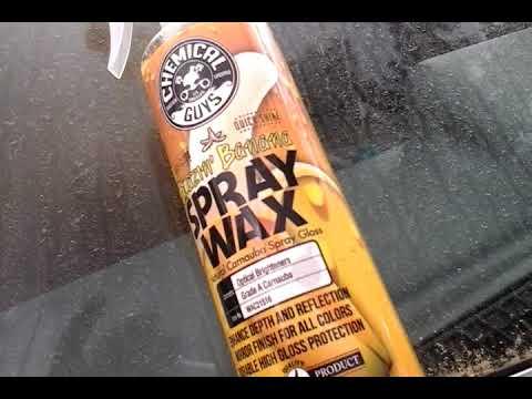 Chemical guys blazin banana spray wax test review