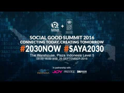 LIVESTREAM: Social Good Summit Jakarta 2016 (English Edition)