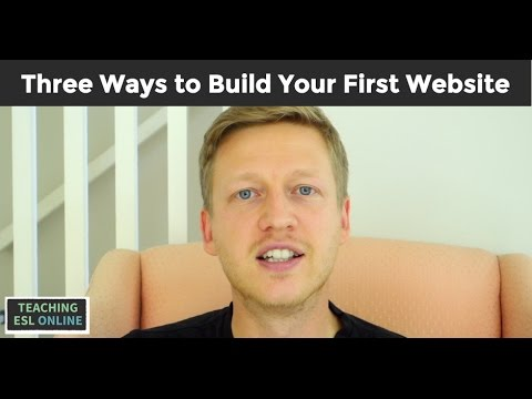 Building Your First Website as an Online English Teacher