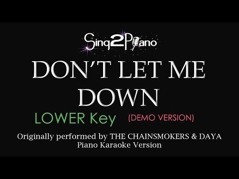 Don't Let Me Down (Lower Key - Piano karaoke...
