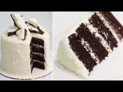 Bounty Chocolate Coconut Cake | Chocolate Cake With Coconut Buttercream Frosting Recipe