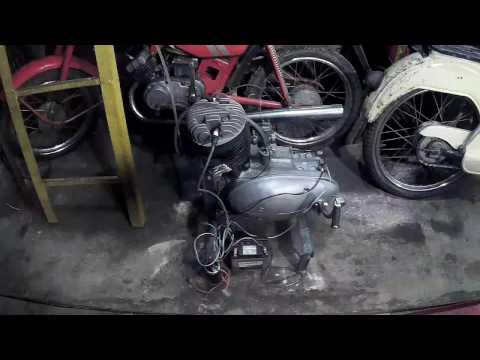 Пуск двигателя ИЖ-49 после ремонта. № 2