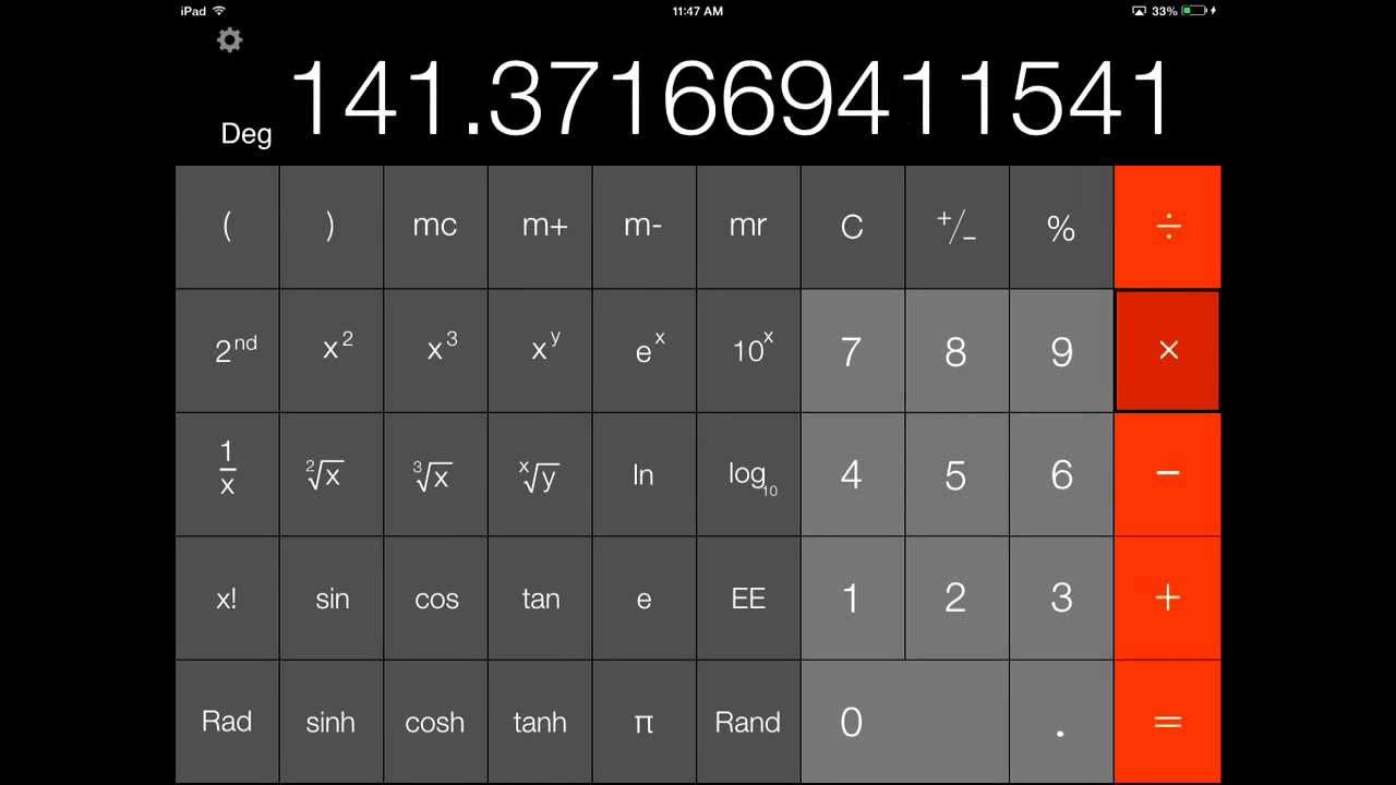 Calculator Free For Ipad And Iphone
