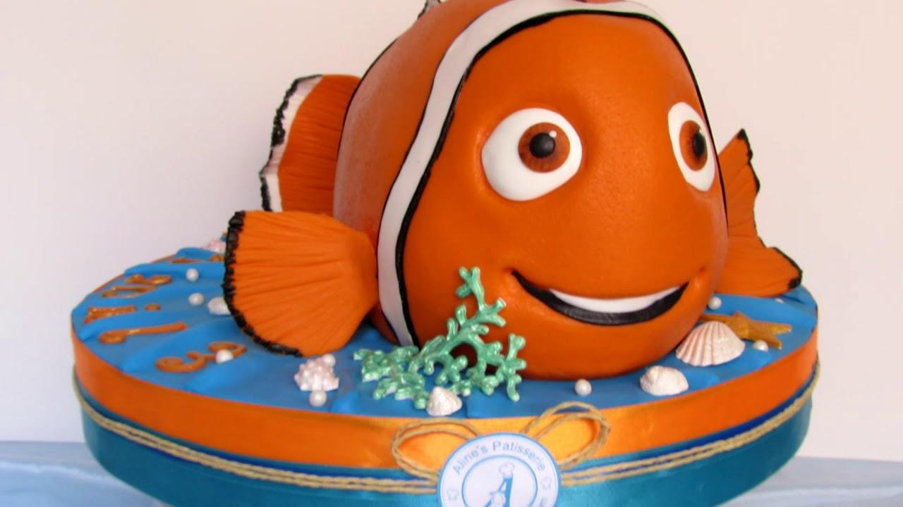 Nemo The Fish Birthday Cake   YouTube