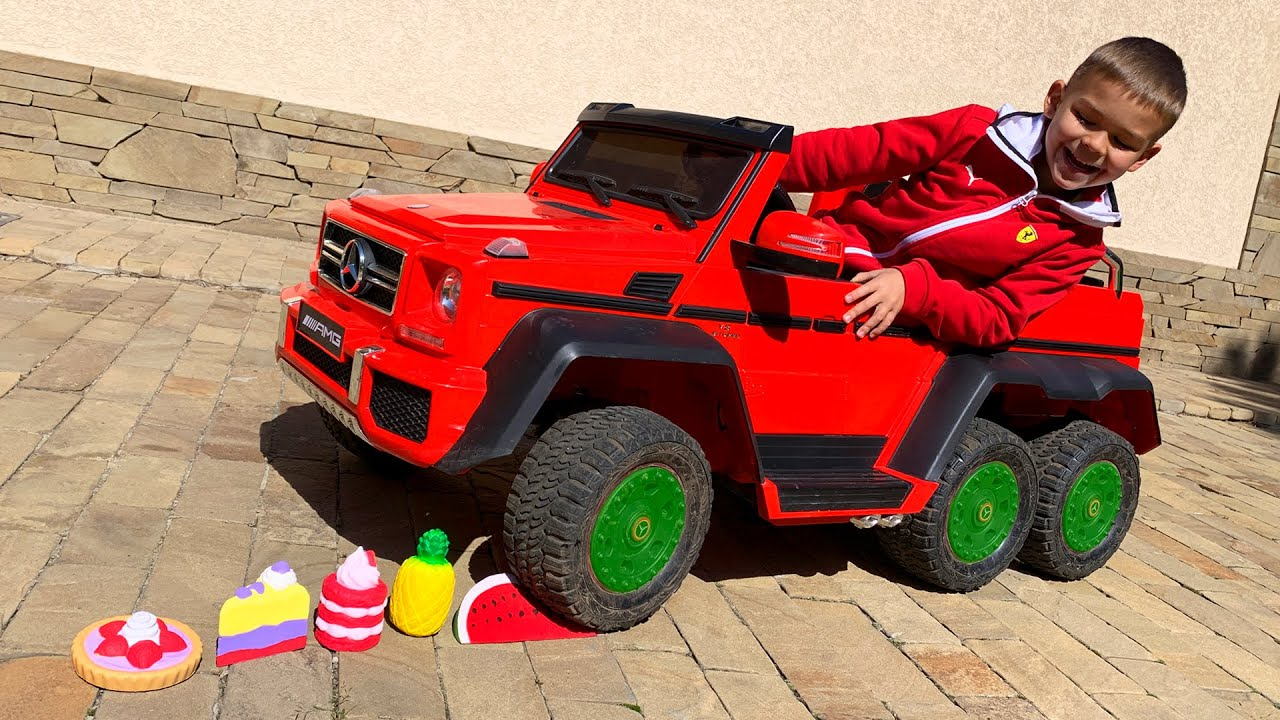 Experiment power wheels car vs toys