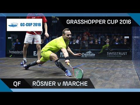 Squash: Rösner v Marche - Grasshopper Cup 2016 - QF Highlights