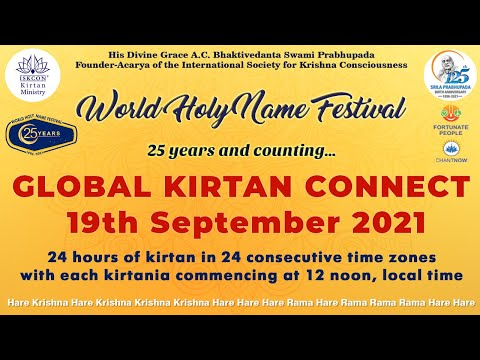 Non Stop 24 Hours Kirtan | Global Kirtan Connect 2021 | World Holy Name Festival