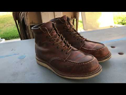 "Red Wing 1907 6"" Moc Toe Copper Rough & Tough: 1 Year Update"