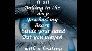 Adele- rolling inthe deep with lyrics