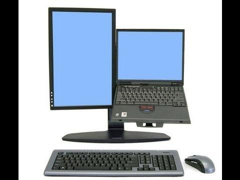 Soporte para laptop y monitor port til y monitor for Soporte monitor mesa