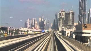 Dubai 2/5 - Metro ride from the Mall of the Emirates to the Dubai Mall, 3 December 2014