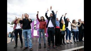 Acto en Alcorcón con Pablo Iglesias
