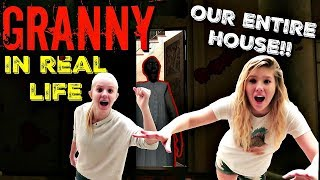 GRANNY IN REAL LIFE HORROR GAME|| OUR ENTIRE HOUSE || Taylor and Vanessa