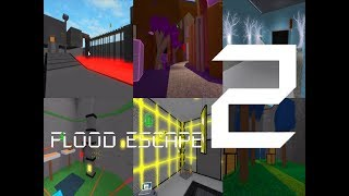 Roblox Flood Escape 2 (Test Map) - Multiplayer Compilation 8