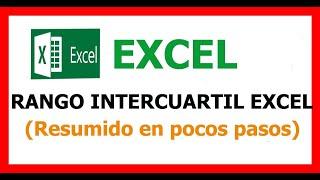 Excel rango intercuartílico