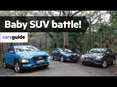 Hyundai Kona vs Honda HR-V vs Mazda CX-3 2019 comparison review