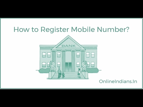 How to Register Mobile Number With Bank Account - YouTube