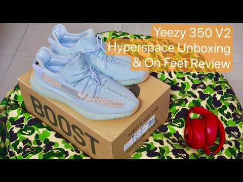 0a601b17766 2019 Adidas Yeezy Boost 350 V2 Hyperspace Unboxing & On Feet Review ...