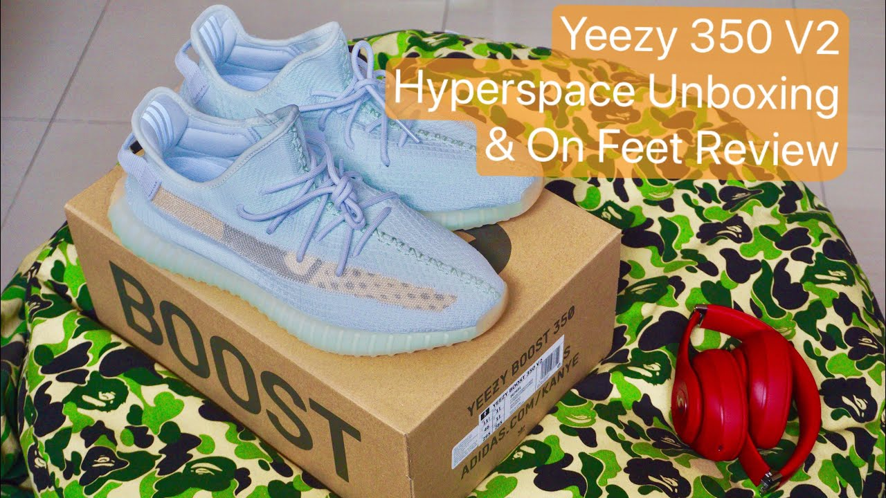 cbd7df7144e 2019 Adidas Yeezy Boost 350 V2 Hyperspace Unboxing & On Feet Review!  Malaysia First! Hypebeast! Bape