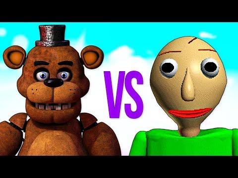 БАЛДИ VS ФРЕДДИ   СУПЕР РЭП БИТВА   Baldi's Basics ПРОТИВ Five Nights At Freddy's Song
