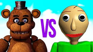 БАЛДИ VS ФРЕДДИ СУПЕР РЭП БИТВА Baldi s Basics ПРОТИВ Five Nights At Freddy s Song