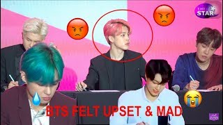 Bts Felt Extremely Upset After A Reporter Ask Them A Ridiculous Question *look In Description*