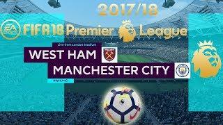 FIFA 18 West Ham United vs Manchester City | Premier League 2017/18 | PS4 Full Match