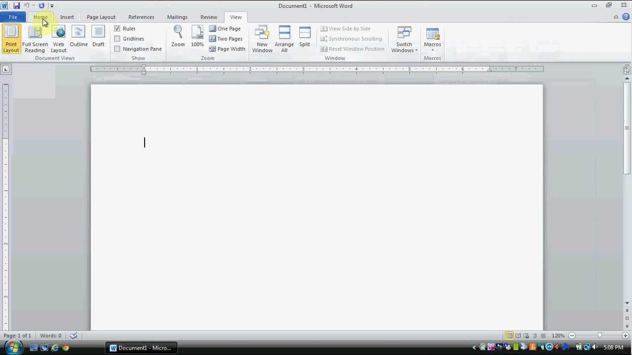 Microsoft Word 2010 Tutorial 101