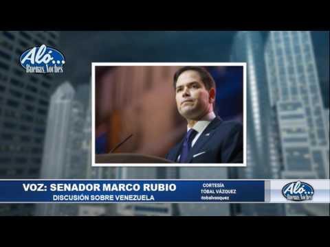 Palabras de Marco Rubio y Luis Almagro en el Senado - Alo Buenas Noches 19-07-2017 Seg. 02
