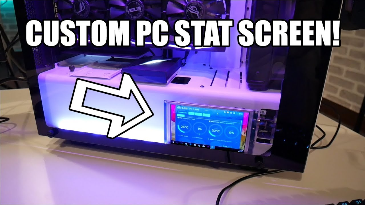 Create your own custom PC Stat Screen! (Super Easy!)