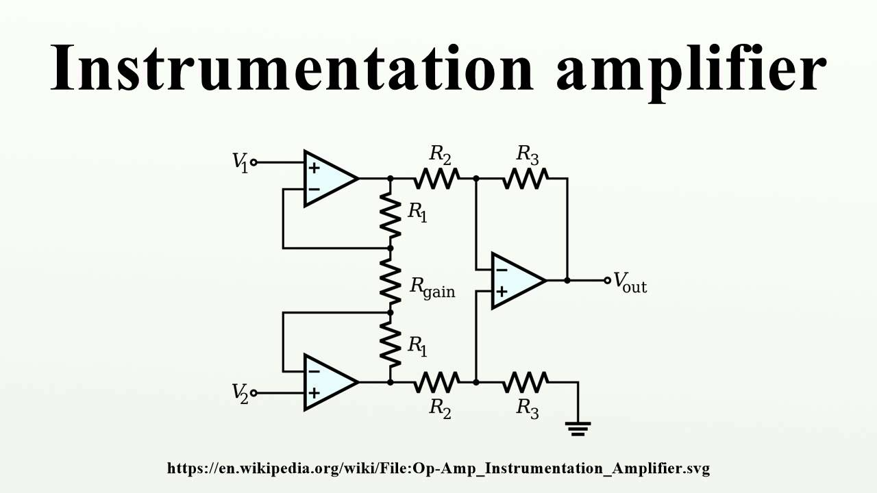 Pdf instrumentation amplifier
