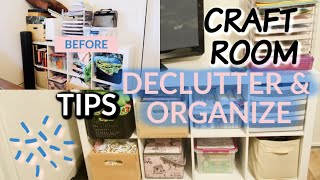 🌟CLEAN WITH ME!🌟 CRAFT ROOM STORAGE / TIPS DECLUTTER & ORGANIZE!!